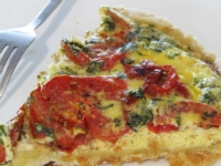 Roasted Tomato and Basil Tart